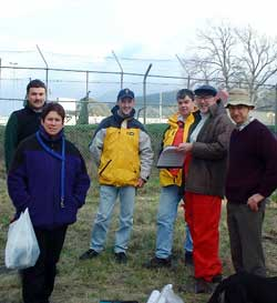 John, Kirsty, Stephen, Matthew, Tony H and Tony P (Beau the dog assisting).