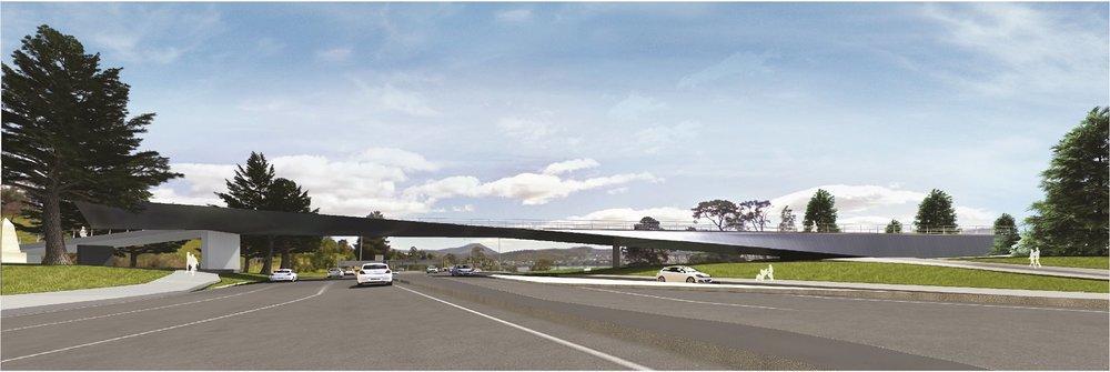 Bridge over the Tasman Highway artist's impression.
