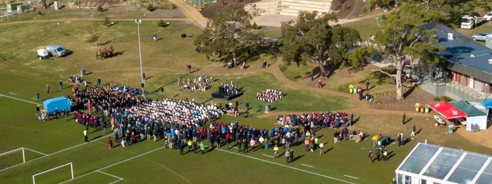 A drones-eye view of the Ceremony.