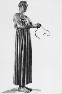 Fig. 4:    The Charioteer. Delphi Museum.