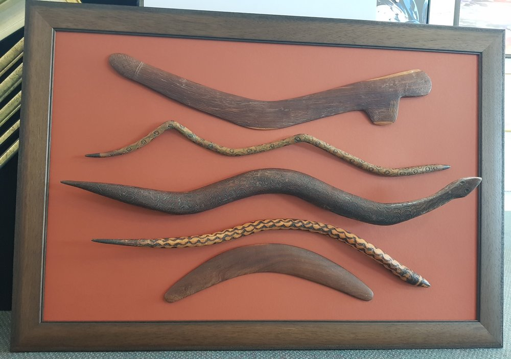 Wooden Boomerangs & Snakes