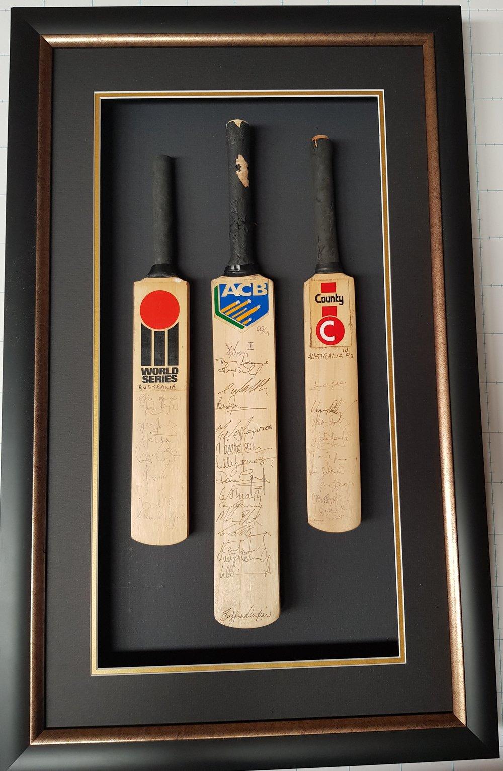 Signed Mini Cricket Bats