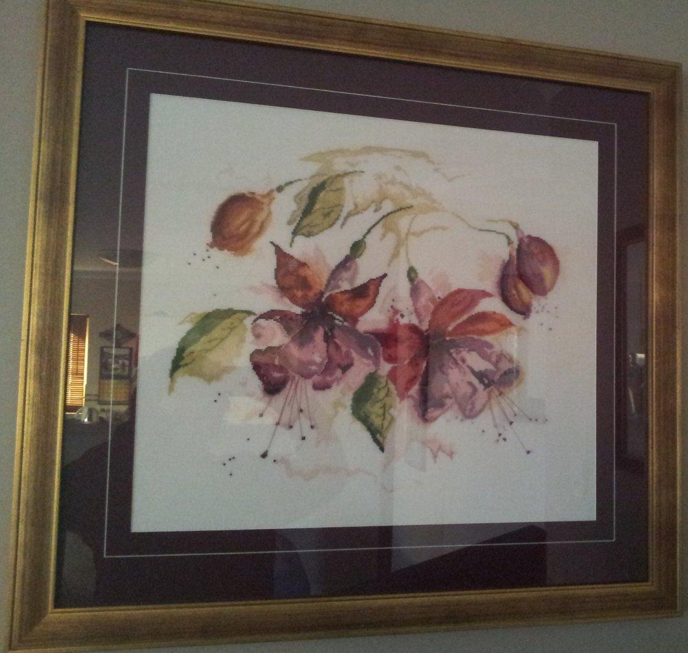 Fuchsia Cross-Stitch
