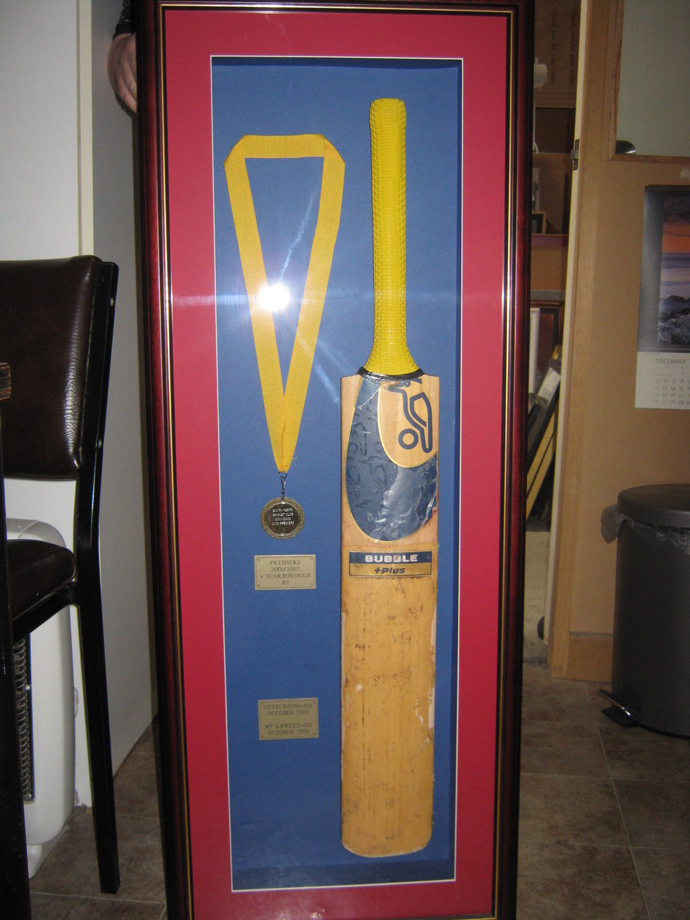 Cricket Bat with Medals