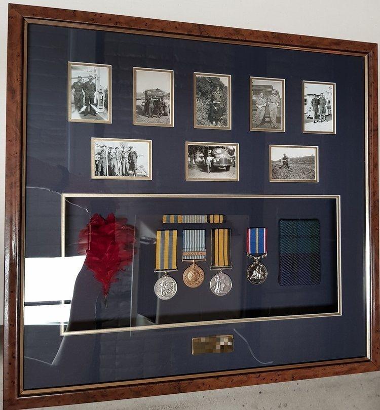 Black Watch Medals, Feather & Tartan
