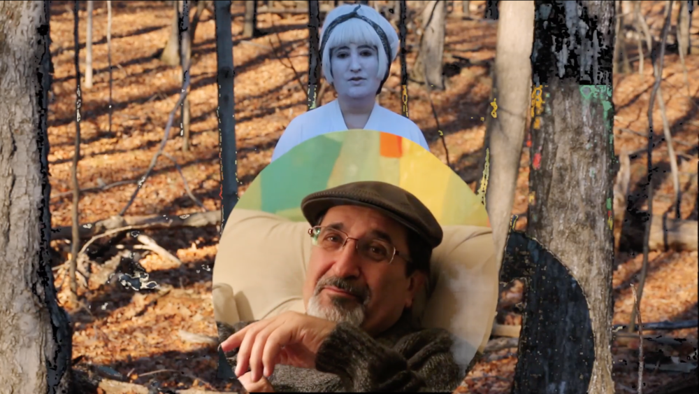 Sahar S.  Magic Meadow Baba (performing white clown) , Video still.