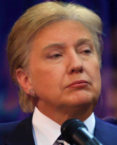 "Figure 1: ""Trillary"", a Photoshop mashup of Donald Trump and Hillary Clinton that surfaced on image sharing site Imgur in early 2016. Author unknown."