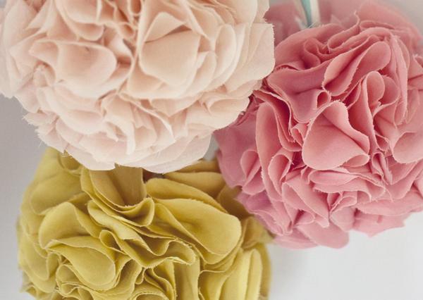 Image of DIY Fabric Pom Poms