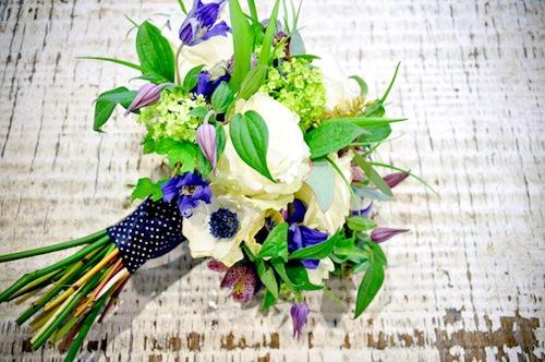 image of polka-dot-ribbon-bouquet
