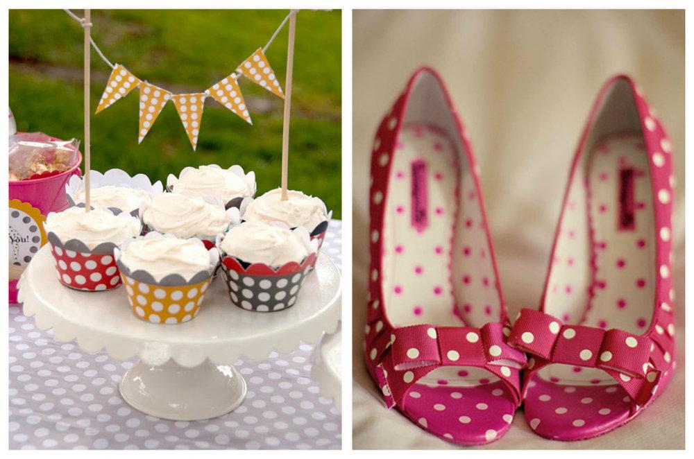 collage of Polkadot Wedding accessories