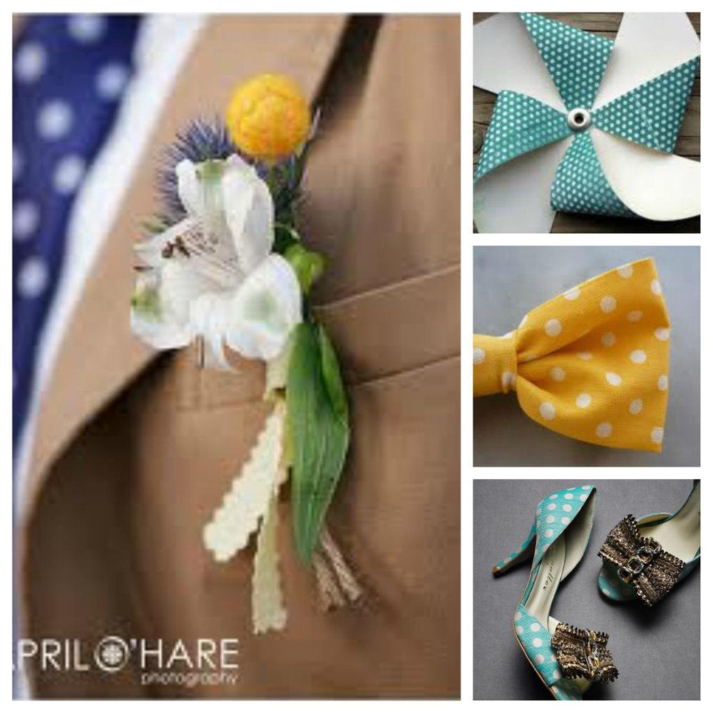 image of Polkadot Wedding Inspiration accessories