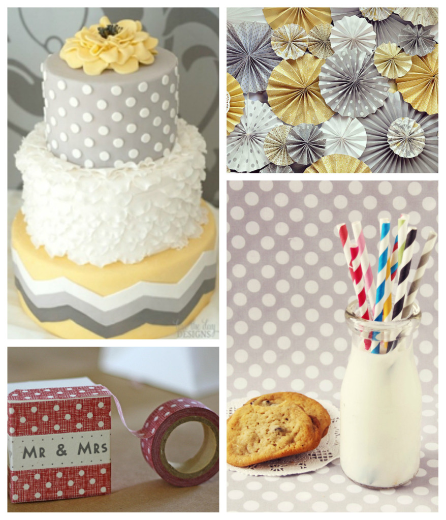 collage of Polkadot Wedding Inspiration accessories