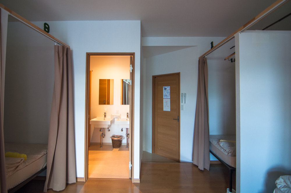Mixed dormitory - 8 beds for all genders. Shared bathroom and 2 in-room toilets.