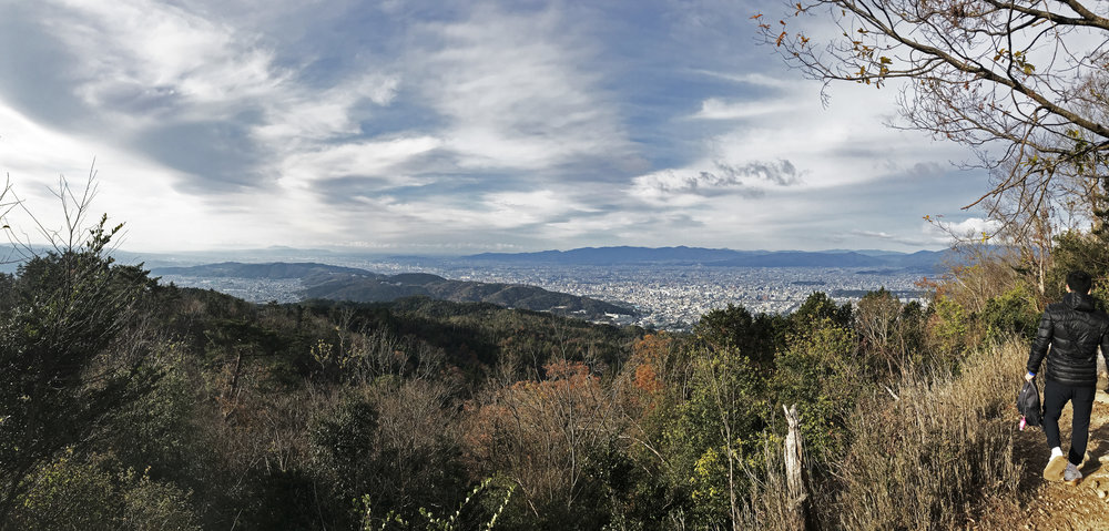 The view from the summit of Daimonjiyama.