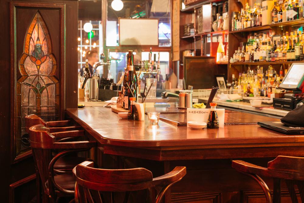 Interior of Sake Bar / Photo by Killian Broderick