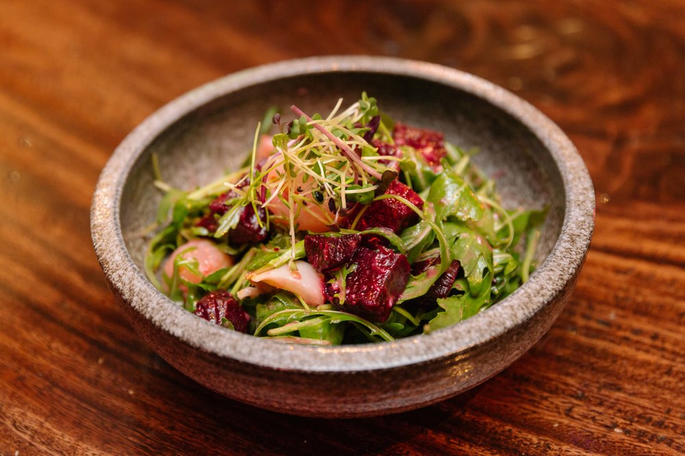 Beetroot and Lychee Salad