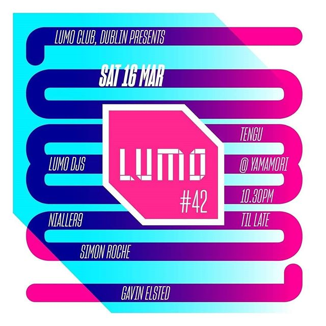 Lumoclub take control of downstairs tonight... tickets on the door.