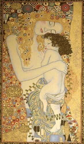 """Mother and Child,"" Gustav Klimt (1905)"