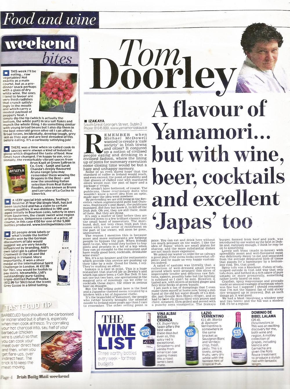 Tom Doorley for the Irish Daily Mail