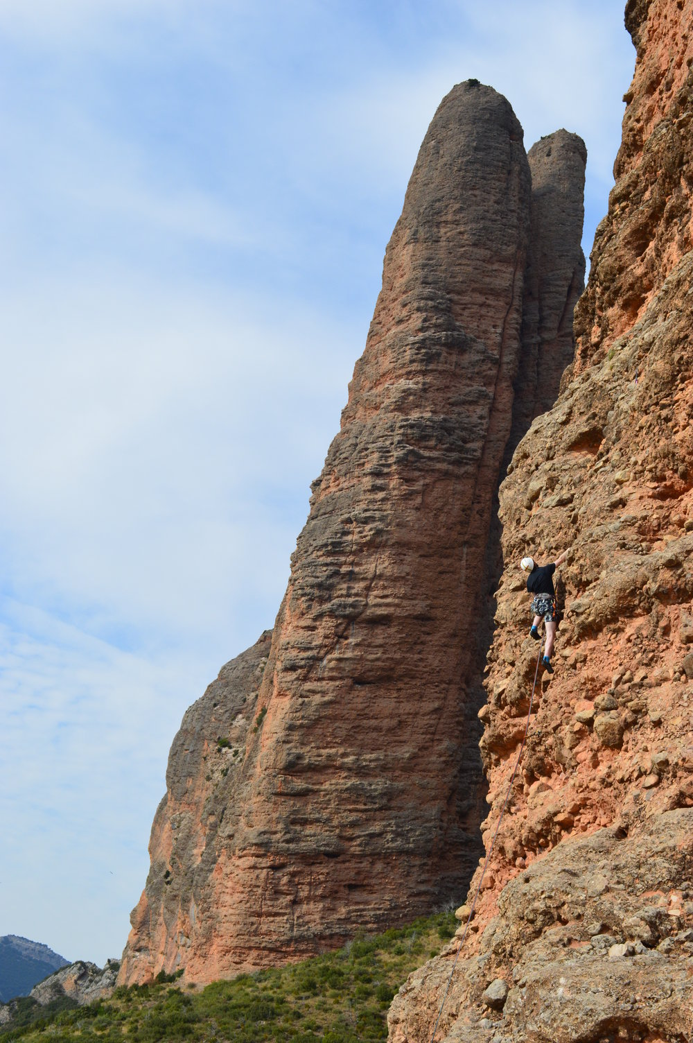 Climbing in Riglos. Image credit: David Comer