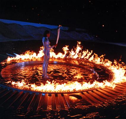 cathy lighing flame.jpg