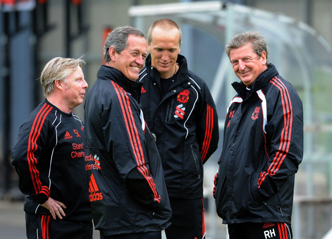 Sammy Lee, Peter Brukner, Darren Burgess and Roy Hodgson