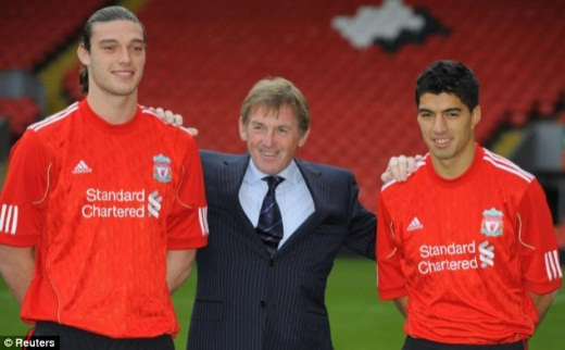 Kenny Dalglish with the new signings