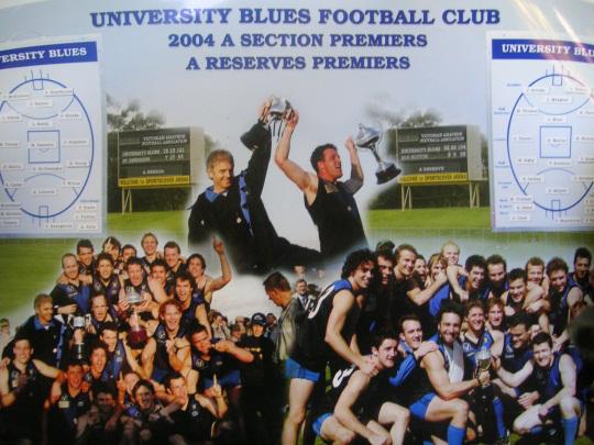VAFA A Grade Premiers 2004 – University Blues