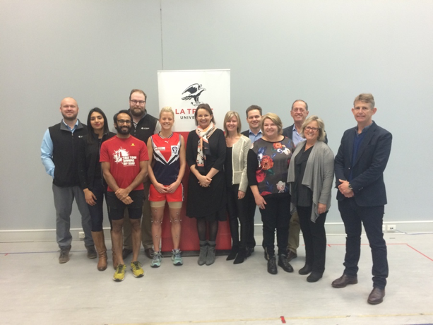 Then Federal Minister of Sport Sussan Ley visited the Centre in 2017