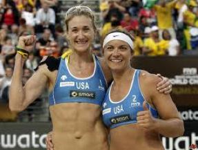 Above: Kerri Walsh and Misty May