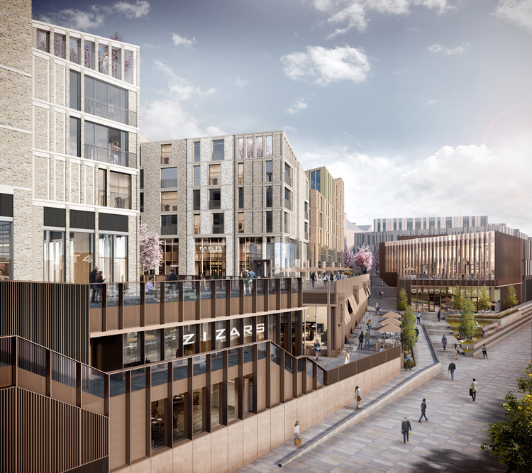 A CGI of the Milburngate development
