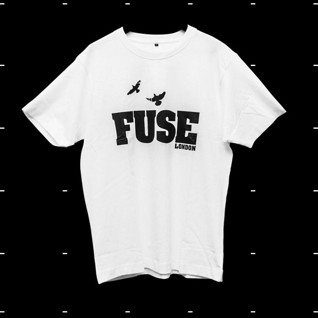 6d781254eaf44 FUSE London Retro Unisex T-Shirt White Tee — FUSE