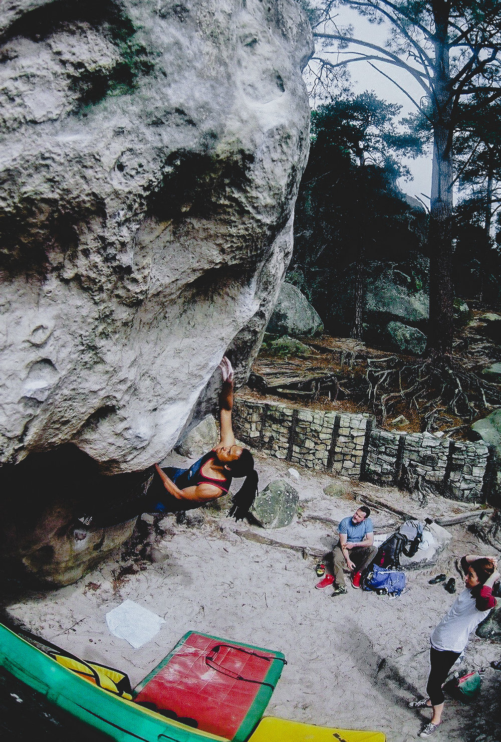 I love rock climbing - this is me in fontainebleau picture Richard Pickford