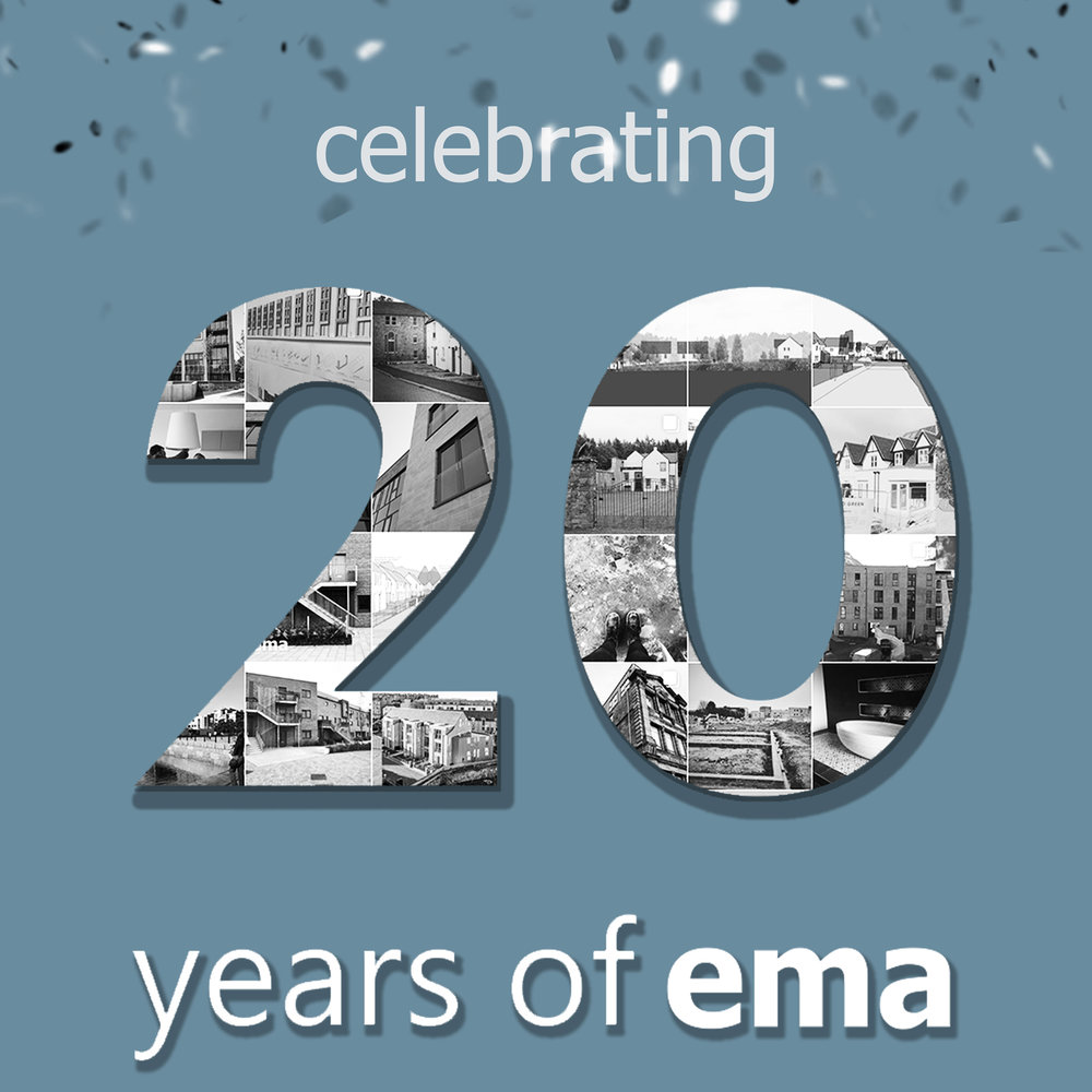 20 years of ema -   Blog / Oct 2018    ema  are looking forward to hosting clients, collaborators and friends at our up coming 20th celebration event to mark our gratitude for their support in recent years.