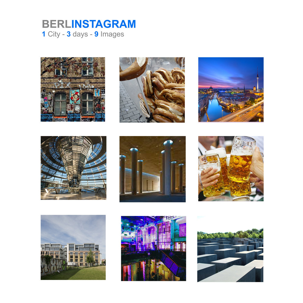 Berlin Study Trip -   Blog Oct/ 2017   Last Autumn  ema  embarked on a study trip to the German capital city of Berlin. Over the course of the three days, the team were set daily challenges to document their time and try to capture as many images of the city which people relate to Berlin.