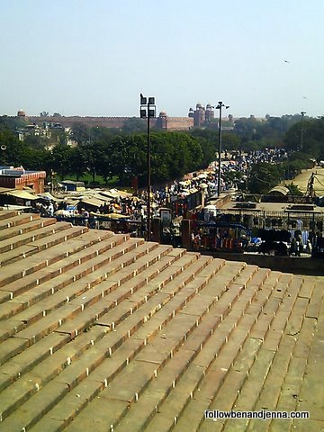 The Red Fort, as a backdrop to Delhi madness