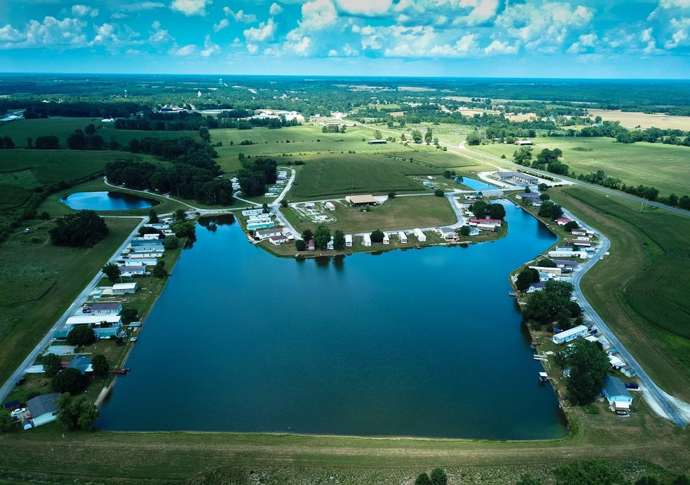 lake village hotel and rv park commercial drone example
