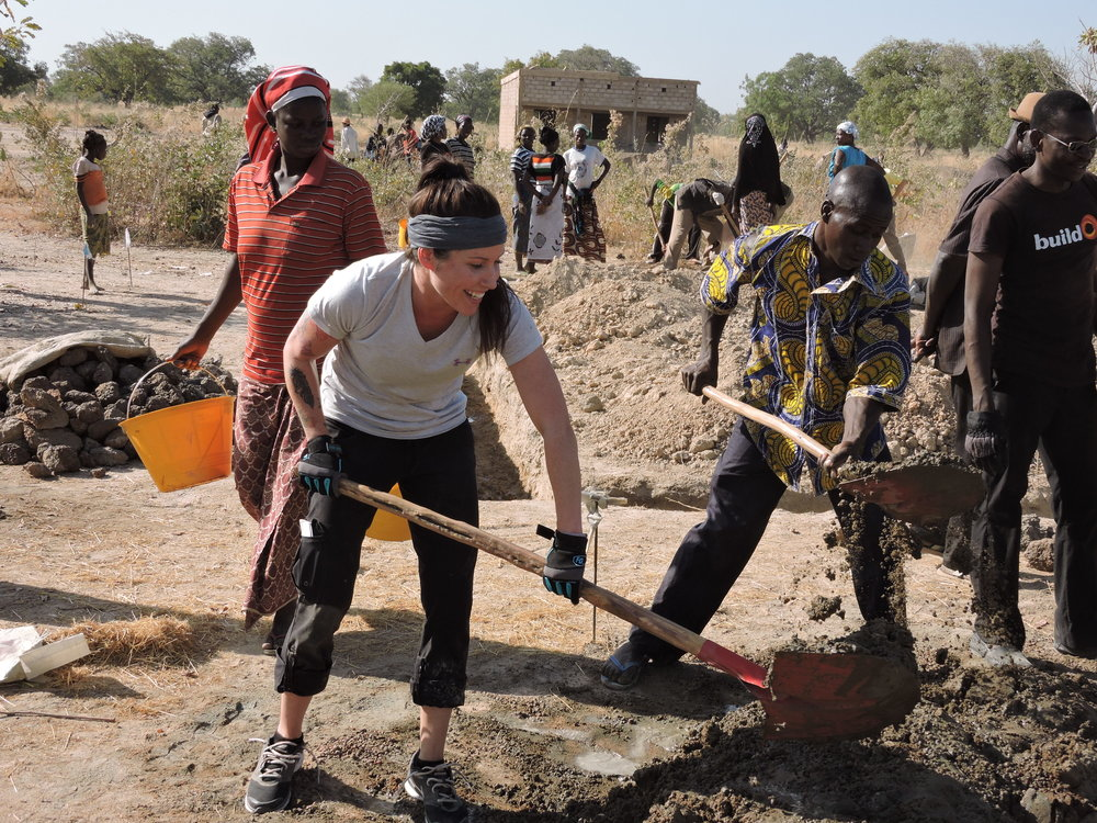 Ashley on the worksite for our first Burkina Faso School.JPG