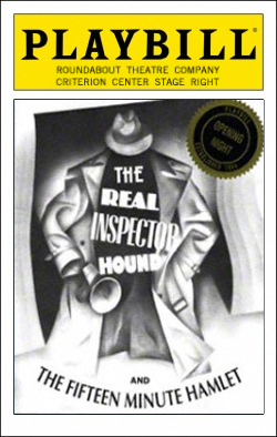 The Real Inspector Hound   Dir. Gloria Muzio Producer: Roundabout Theatre Company, Todd Haimes, Gene Feist