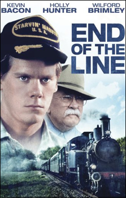 End of the Line   Director: Jay Russell Producer: Sundance Institute; Anchor Bay Starring: Kevin Bacon, Wilford Brimley, Holly Hunter