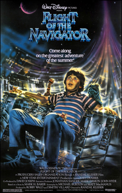 Flight of the Navigator   Director: Randal Kleiser Producer: Walt Disney Pictures; BVP Starring: Joey Cramer, Paul Reubens, Veronica Cartwright