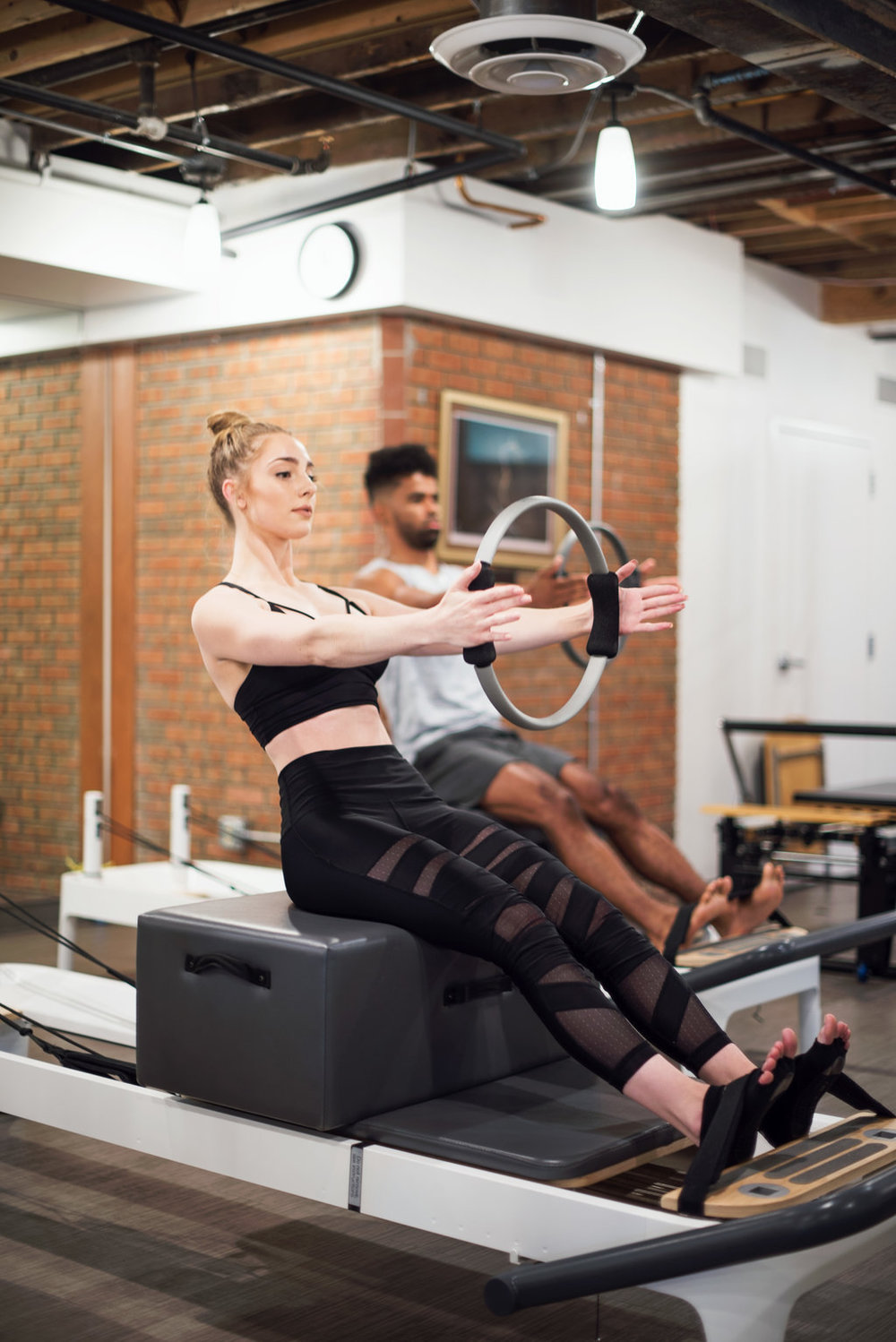 Fluid FusionTotal Body Reformer - Low Impact. High Intensity.The Fluid Fusion Form on the Reformer combines controlled, slow movements with continued tension and movement transitions to develop your strength, flexibility, balance and endurance throughout your workout and everyday life. Create a balanced body and strong core while guaranteeing your full range of motion on the sliding carriage. Choose from 45 minute express or 60 minute totally body reforming workouts. Get Personalized attention in our small group classes on Balanced Body Allegro II Reformers, for a workout like nothing you've experienced before.