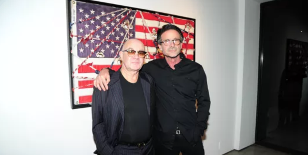 "Bernie Taupin, left, and Bernie Chase of Chase Contemporary at the Oct. 17 opening of ""True American"" at Chase Contemporary in New York City."