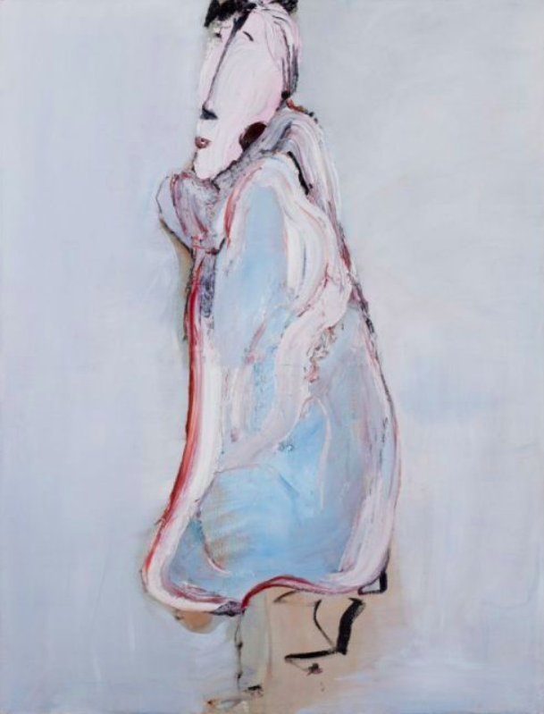 """Awaiting to Forge Ahead Together, 2010. Oil on Canvas. 66.93 x 51.18""""."""