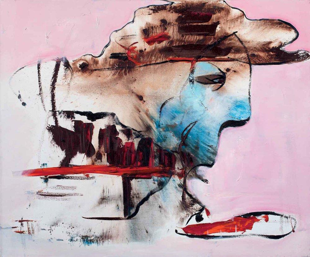 """Food, 2012. Oil on Canvas. 59.05 x 70.86""""."""