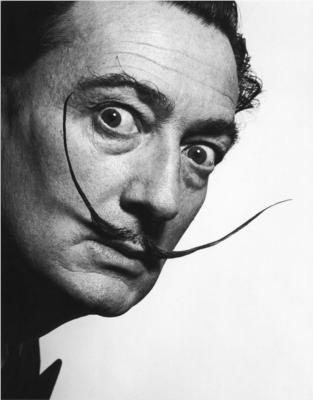 SALVADOR DALI - (1904 - 1989) was a prominent surrealist painter from Catalonia, Spain. He was primarily a painter, but worked in several other media including drawing, filmmaking, sculpture and photography. He was known for having an eccentric personality, and for being excessive and grandiose. His eccentric manner and attention-grabbing public actions sometimes drew more attention than his artwork. He produced over 1500 paintings in his lifetime, and his best known work is The Persistance of Memory (1931.) Dali is among one of the best known surrealist artists, and has work in every major museum in the world.