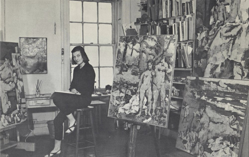ROSEMARIE BECK - (1923-2003) was an Abstract Expressionist and Figurative Expressionist painter of the post World War II era. She attended Oberlin College, Columbia University, and the Art Students League in NYC where she studied with Robert Motherwell. After school she moved to Woodstock, NY, where she struck up friendships with neighbors Philip Guston and Bradley Walker Tomlin. Beck was also an active teacher, at schools such as Queens College, Vassar College, Middlebury College, the Vermont Studio Center, and the New York Studio School of Drawing Painting and Sculpture, where she taught until shortly before her death.
