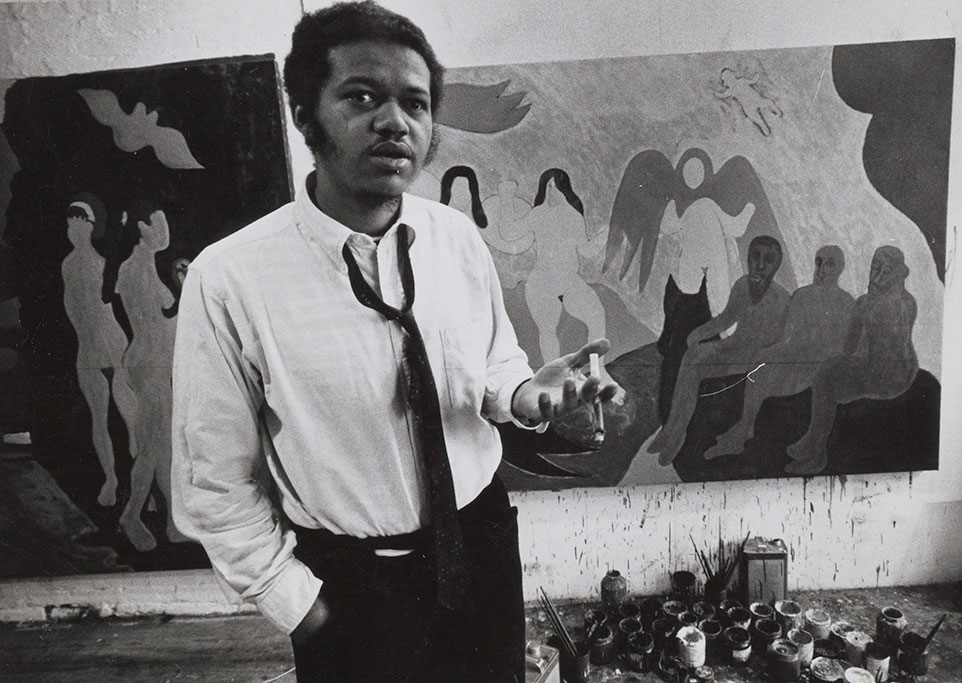 """BOB THOMPSON - (1937-1966) had a very short eight-year career, yet has left a legacy of over 1,000 paintings and drawings. He experienced rapid success upon moving to New York City as a young artist, immediately getting solo shows in the city. Critic Peter Schjeldahl describes the art scene surrounding Thompson as """"a community of untrammeled, funky seers who all but breathed paint."""" He was very involved in the American jazz scene, and was good friends with Alan Ginsberg and many other beat generation poets and artists. He spent a few years in Europe studying his primary influence, the Old Masters, funded by a grant from The Whitney Museum. His work is in many major collections throughout the country."""