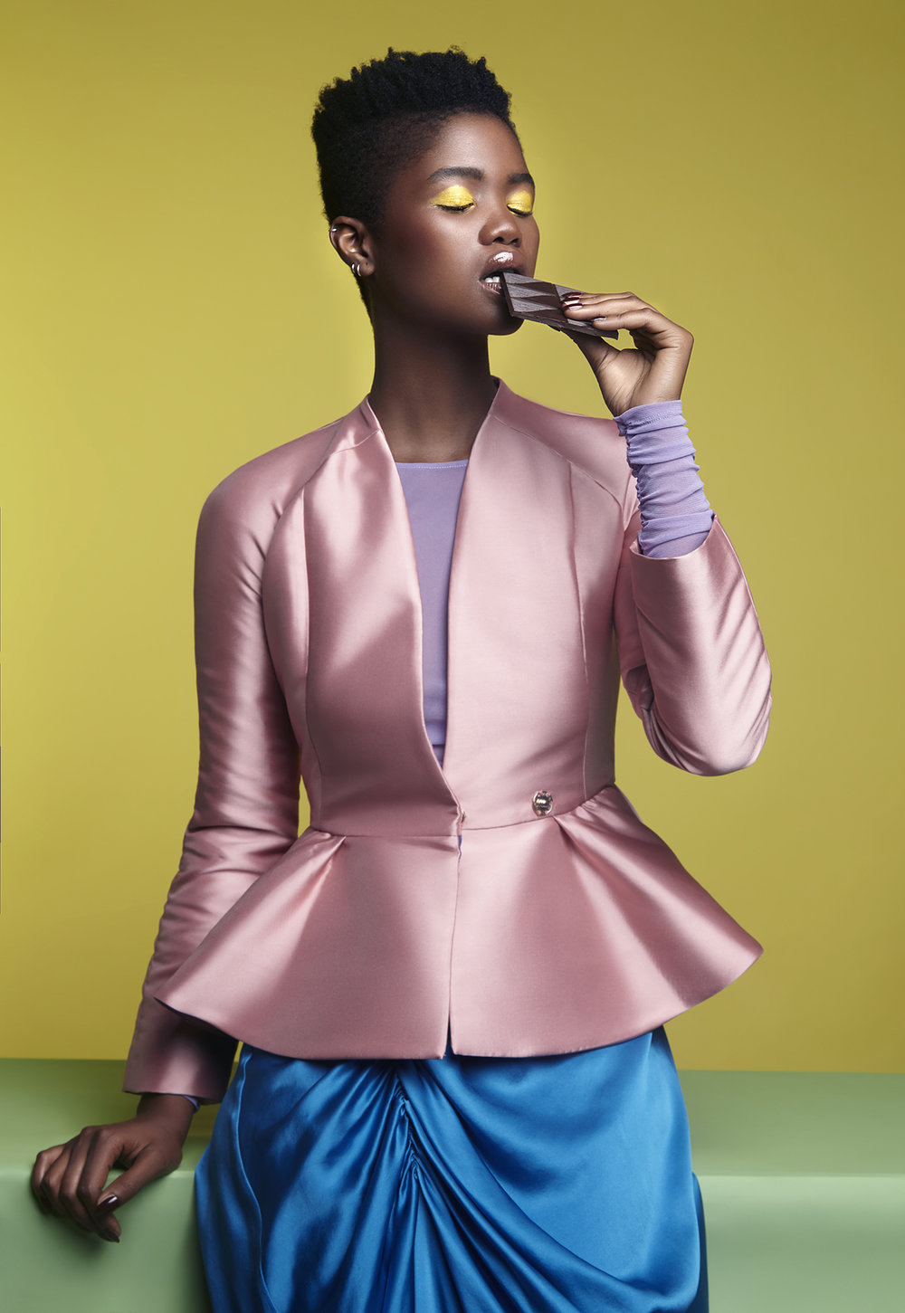 Colorful-Fashion-Editorial-Black-Model-by-Fashion-Photographer-Dana-Cole-Fashion-Styling-pink-jacket.jpg