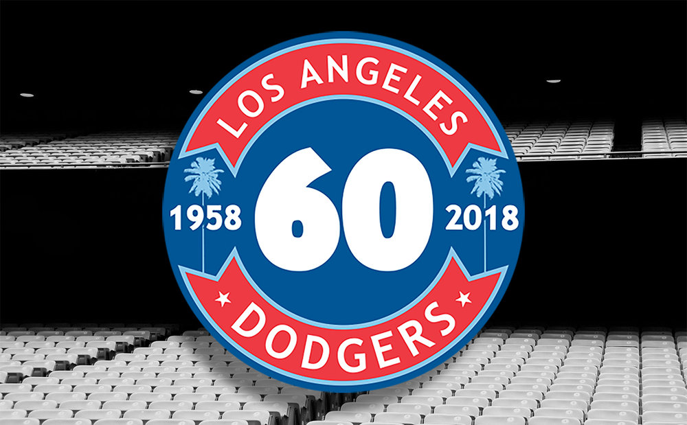 Los Angeles Dodgers - 60th Anniversary Logo and Photography